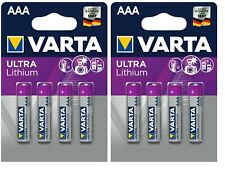 8 x Varta Ultra Lithium eh. Professional 6103 AAA Micro FR03 1,5V Batterie