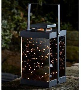 Large LED Lantern Firefly Modern Battery Operated Garden Light Warm White Timer