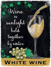 Weiß Glas Wein Drink Pub Bar Küche Alt Werbe Neuheit Kühlschrank-magnet