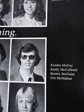 Jim McMahon 1977 Roy High School Yearbook Utah Chicago Bears Super Bowl Football