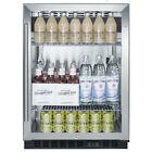 Summit SCR610BL Undercounter Beverage Refrigerator, Glass/Black  photo