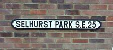 SELHURST PARK SE25 Vintage wooden street sign, Crystal Palace