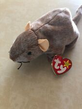 """Ty Beanie Baby - 'Tiptoe' the Mouse/Rat 6"""" Nwt 1999"""