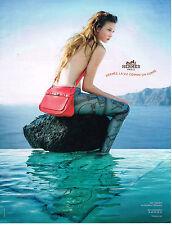 PUBLICITE ADVERTISING 104  2010  HERMES  maroquinerie sac JYPSIERE  CLEMENCE