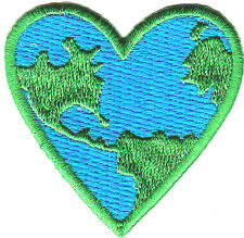 EARTH HEART PATCH - UNIVERSE - ASTROLOGY - IRON ON EMBROIDERED APPLIQUE PATCH