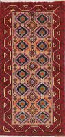 Afghan Oriental Area Rug Wool All-Over Geometric Hand-Knotted 3x6 Carpet