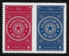 US Scott #5010-11, PAIR 2015 World Stamp Show VF MNH