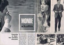 Coupure de presse Clipping 1965 Françoise Hardy & Sami Frey  (2 pages)