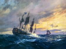 Geoff Hunt Limited Edition Print - Vanguard In Heavy Weather