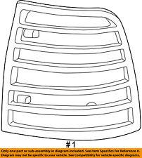 Mercury FORD OEM Taillight Tail Light-Rear-Combo Assy Left 1L2Z13405BA