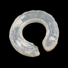 An ancient Vietnamese penannular glass ear ornament e2141