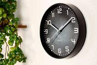 Walplus ChicTime Black 25cm Wall Clock Quality Silent Movement  Hotel Decoration