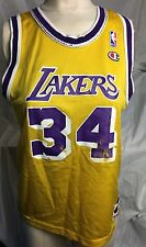 LOS ANGELES LAKERS Vintage BASKETBALL JERSEY CHAMPION O Neal NBA woman design