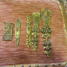 lot de Décorations de Meuble Bronze laiton doré
