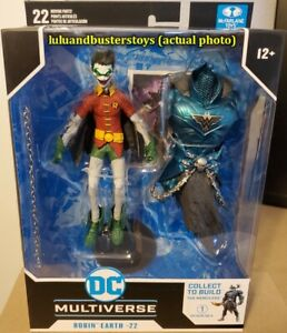 McFarlane DC Multiverse ROBIN EARTH -22 Dark Nights Smile Crow Figure Merciless