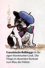 French Bulldog Pipe M - German Dog Print - MATTED / NEW