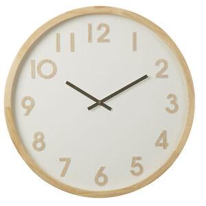 Amalfi Leonard wooden body decorative Round Hanging Wall Clock White and Brown
