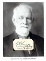 Benjamin F Tracy Autograph 1892 32nd Secretary Navy New York State Assembly NY