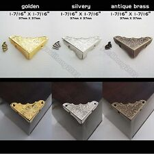 12pcs Decorative Jewelry Wine Gift Wood Box Picture Frame Corner Protector Guard