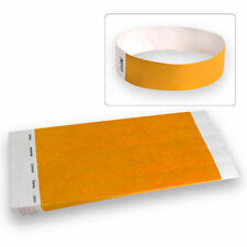 """3/4"""" Tyvek Wristbands Neon Orange-100 Count"""