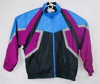 Vintage Oleg Cassini Colorblock Designer Neon Windbreaker Mens XL Givenchy