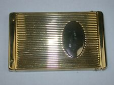 Yellow NOS Cigarette Case with Hinged Spring Loaded Top. 92R