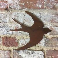 Rusty SWALLOW Sign Metal Home Garden Ornament Sign Bird Animal Wall Fence lawn