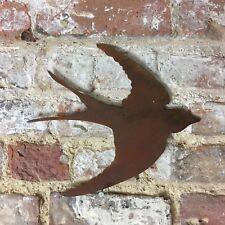 Rostig Schlucken Metal Heim Garten Figur Schild Vogel Tiere Mauer-Zaun Rasen