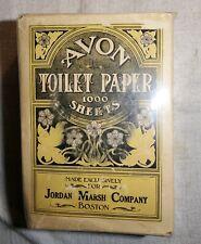 ANTIQUE NEW OLD STOCK FULL PACK AVON TOILET PAPER 1000SHEETS JORDAN MARSH BOSTON