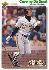217 GARY VARSHO PITTSBURGH PIRATES BASEBALL CARD UPPER DECK 1992
