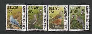 Belize - 1995, Christmas, Doves, Birds set - MNH - SG 1194/7