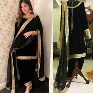 Punjabi Suit Indian Designer Bollywood Pakistani Ethnic Embroidery Salwar Kameez