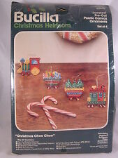 Bucilla Ornaments Kit Christmas Train Heirloom Jeweled Plastic Canvas