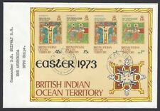 BIOT British Indian Ocean Territories 1973 Easter MS on BFPO FDC
