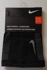 Nike Adult Unisex Thermal Lightweight Leg Warmer Sleeves Black/Silver Size L/XL