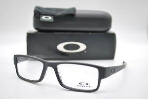 NEW OAKLEY OX8046-0155 AIRDROP SATIN BLACK AUTHENTIC EYEGLASSES FRAME RX 55-18