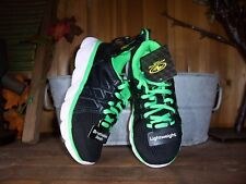 ATHLETIC WORKS BOYS TODDLER ATHLETIC SHOES SIZE 12 COLOR BLACK GREEN KIDS CASUAL