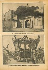 Fire Incendie Sublime Porte Istanbul Ottoman Empire/Carosse 1911 ILLUSTRATION