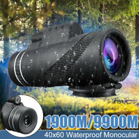 40X60 HD Day Night Vision Optical Monocular Compact Telescope Zoom Camping Trave