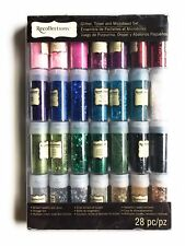 Recollections Glitter, Tinsel and Microbead Set, 28 Pieces - NIB