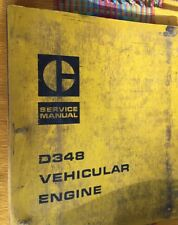 Caterpillar Service Shop Repair Manual D348 Vehicular Engine Made In USA