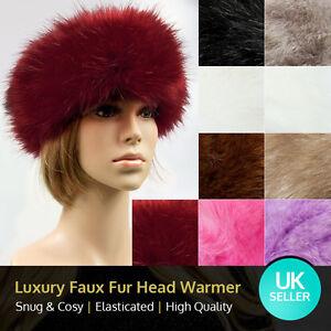 Luxury Faux/Fake Fur Ladies Winter HeadBand HeadWarmer