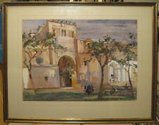 Robert Douglas Wells Early 1900s WC View of Cordova Spain Listed British Artist