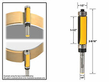 "Flush Trim Top and Bottom Bearing Router Bit - 1/4"" Shank - Yonico 14982q"