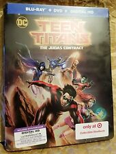 TEEN TITANS JUDAS CONTRACT Blu-Ray Target Exclusive Limited Edition STEELBOOK