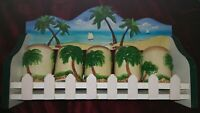 Beautiful ARC Hand Painted Collection Island Palm Tree Kitchen Spice Rack