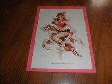 "Vintage OLIVIA De BERARDINIS PIN-UP ""Pony Ride Anyone?"" Plus  cards"