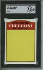 1972 Topps #478  Checklist 6 card progressive proof. 54a