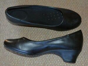 Safe T Step Professional Comfort Pumps Shoes Black Leather Slip Oil Resistant 7W