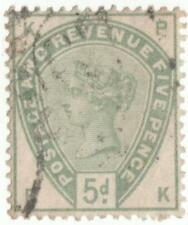 QV 5d DULL GREEN.....S.G. 193....USED..NO HINGE GOOD COLOUR.